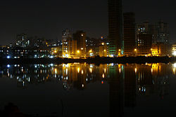 Buildings in Nerul, Mumbai as seen from the Palm beach road