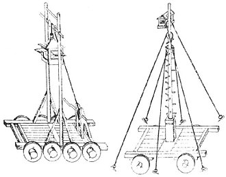 Chinese siege weapons - Nest and watchtower carts.