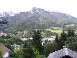 Schneealpe - The Schneealpe massif from Neuberg