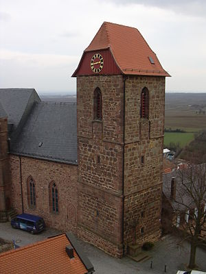 Neuleiningen - Former castle chapel (now parish church) St. Nikolaus