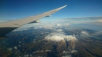 Nevado del Ruiz - Image: Nevado del Ruiz from the air