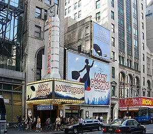 Mary Poppins (musical) - New Amsterdam Theatre showing Mary Poppins, 2007