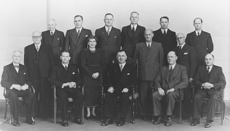 First National Government of New Zealand - The Prime Minister and his cabinet in 1951