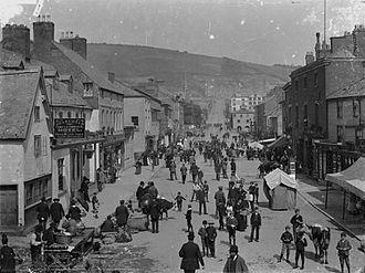 Newtown, Powys - Newtown street scene c.1890