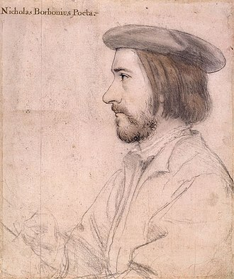 Nicholas Bourbon (the elder) - Portrait by Hans Holbein the Younger, 1535