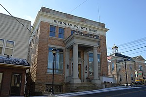 National Register of Historic Places listings in Nicholas County, West Virginia - Image: Nicholas County Bank in Summersville