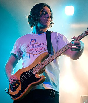 Nick O'Malley - Nick O'Malley with Arctic Monkeys in 2011