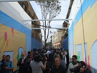 Cyprus dispute - Opening of Ledra Street in April 2008