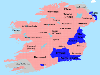 Nine Years War (Ireland) War that took place in Ireland from 1593 to 1603