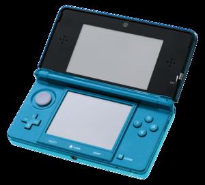 English: A Nintendo 3DS in Aqua Blue, photo ta...