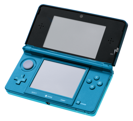 An original model Nintendo 3DS Nintendo-3DS-AquaOpen.png