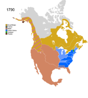 Map showing Non-Native Nations Claim_over NAFTA countries c. 1790