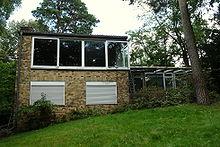 Eigenes Wohnhaus, 1956/57, Blick Auf Die Gartenfront