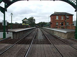 North Weald stn look west from level crossing 2012.JPG