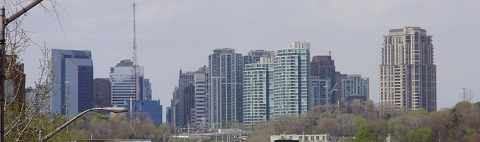 North York skyline in May 2009.