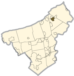 Location of Bangor in Northampton County