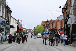 Newbury, Berkshire - The pedestrianised Northbrook Street
