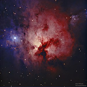 NGC 1579 - HaRGB image of the Northern Trifid Nebula NGC 1579 from the Liverpool Telescope on La Palma