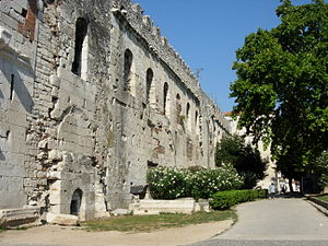Northern wall of Diocletian's Palace, Split.jpg