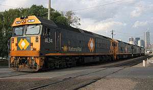 National Rail Corporation - BL class locomotives in Melbourne in June 2006