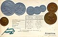 Numismatic postcard from the early 1900's - Argentina.jpg