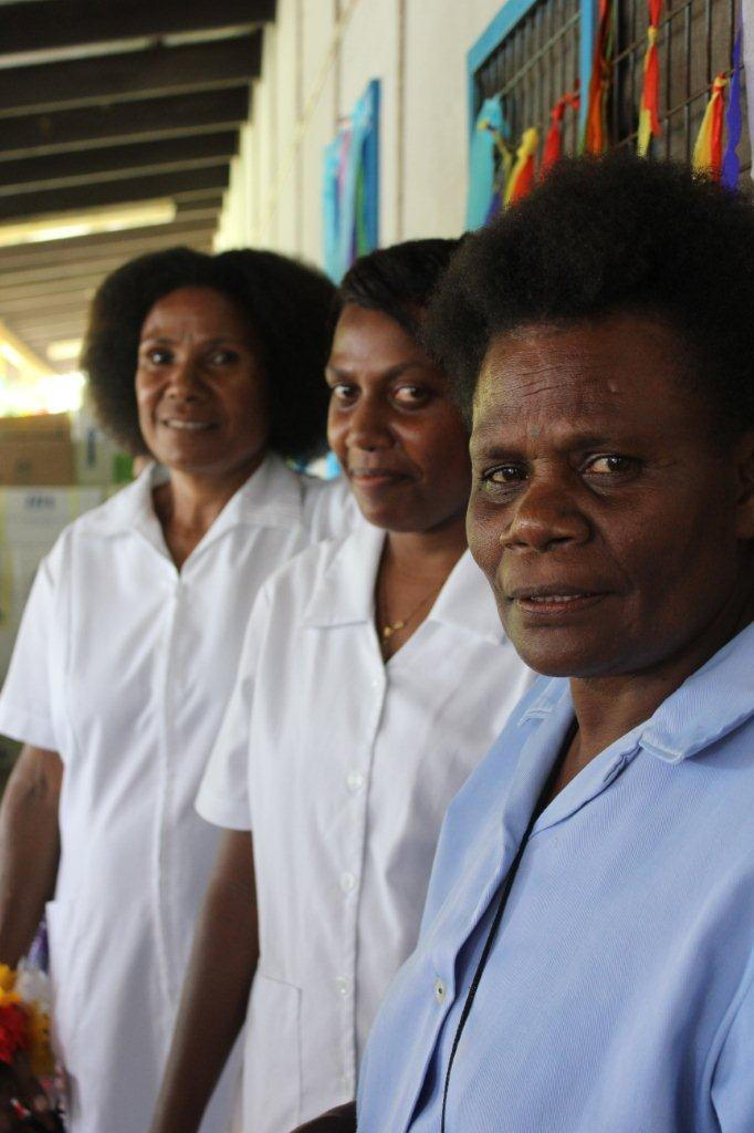 Nurses at Butawin Urban Clinic, PNG (10711159465)