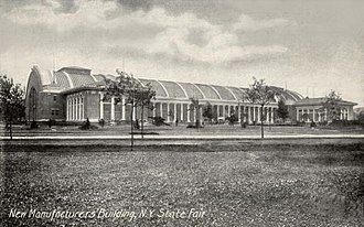 Great New York State Fair - View of the Manufacturers Building (now the Center of Progress Building) shortly after its completion