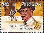 OP Nayyar 2013 stamp of India.jpg