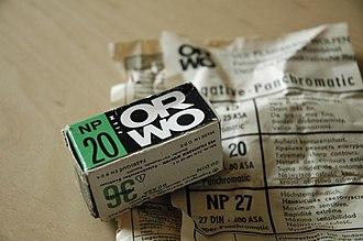 ORWO - Image: ORWO panchromatic film