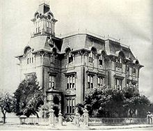 Photo of Oakland High school circa when Stratton atttended it