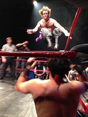 Hoodslam - Sam Khandaghabadi, founder of Hoodslam, wrestling as The Dark Sheik