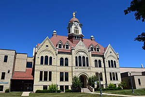 Oconto, Wisconsin - The Oconto County Courthouse in Oconto