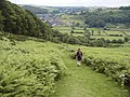 Offa's Dyke path leading down into Knighton - geograph.org.uk - 31233.jpg