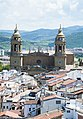 Old City of Pamplona and its Cathedral from the top of San Cernin Tower.jpg