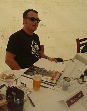 Olivier Ledroit - Olivier Ledroit at the Château de Comper, dedicating his comic books