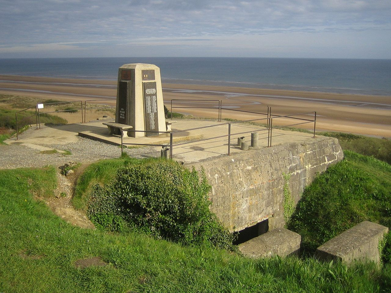 FileOmaha Beach Memorial On German Bunkerjpeg