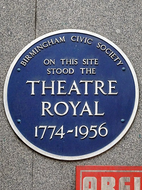 On this site stood the theatre royal 1774 1956