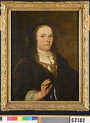 Portret van Mondina van Beveren (1622-1652), eerste echtgeno