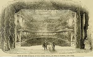 Niblo's Garden - View from the stage, 1853