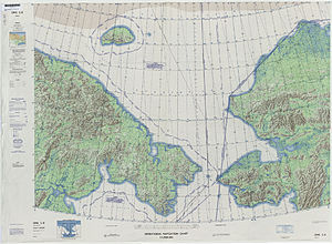 Chukchi Sea - Defense Mapping Agency topographical map of the Chukchi Sea, 1973