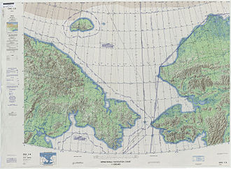 Bering Strait - Defense Mapping Agency topographical map of the Bering Strait, 1973