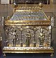 Orafo aostano, cassa-reliquiario della mandibola di san grato, 1450 circa (aosta, collegiata dei ss. pietro e orso) 01.JPG