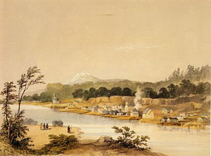 Henry Warre - Warre's Oregon City 1845