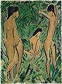 Otto Mueller-Knabe vor zwei stehenden und einem sitzenden Mädchen.jpg
