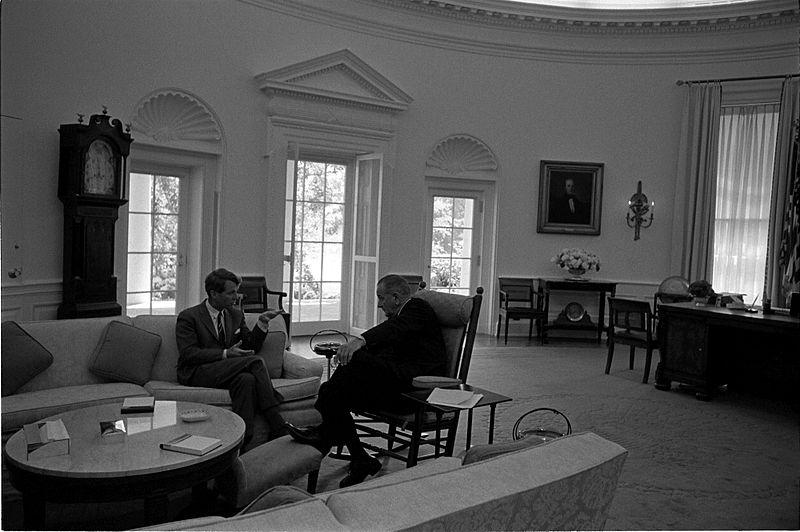 File:Oval Office meeting LBJ and RFK.jpg