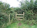 Over the stile and turn left - geograph.org.uk - 531362.jpg