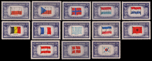 Overrun Countries series - Overrun Countries stamps