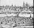 Overzicht naar prent ca. 1575, detail gravure naar tekening van Simon de Bellomonte in het 2de deel van de Atlas van Braun en Hogenberg - Maastricht - 20145258 - RCE.jpg
