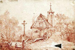 Wiejski kościółek drewniany