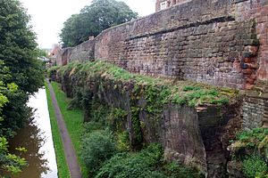 Chester city walls - Image: PART OF CITY WALL FROM NORTHGATE TO PHOENIX TOWER seen from the North (1)